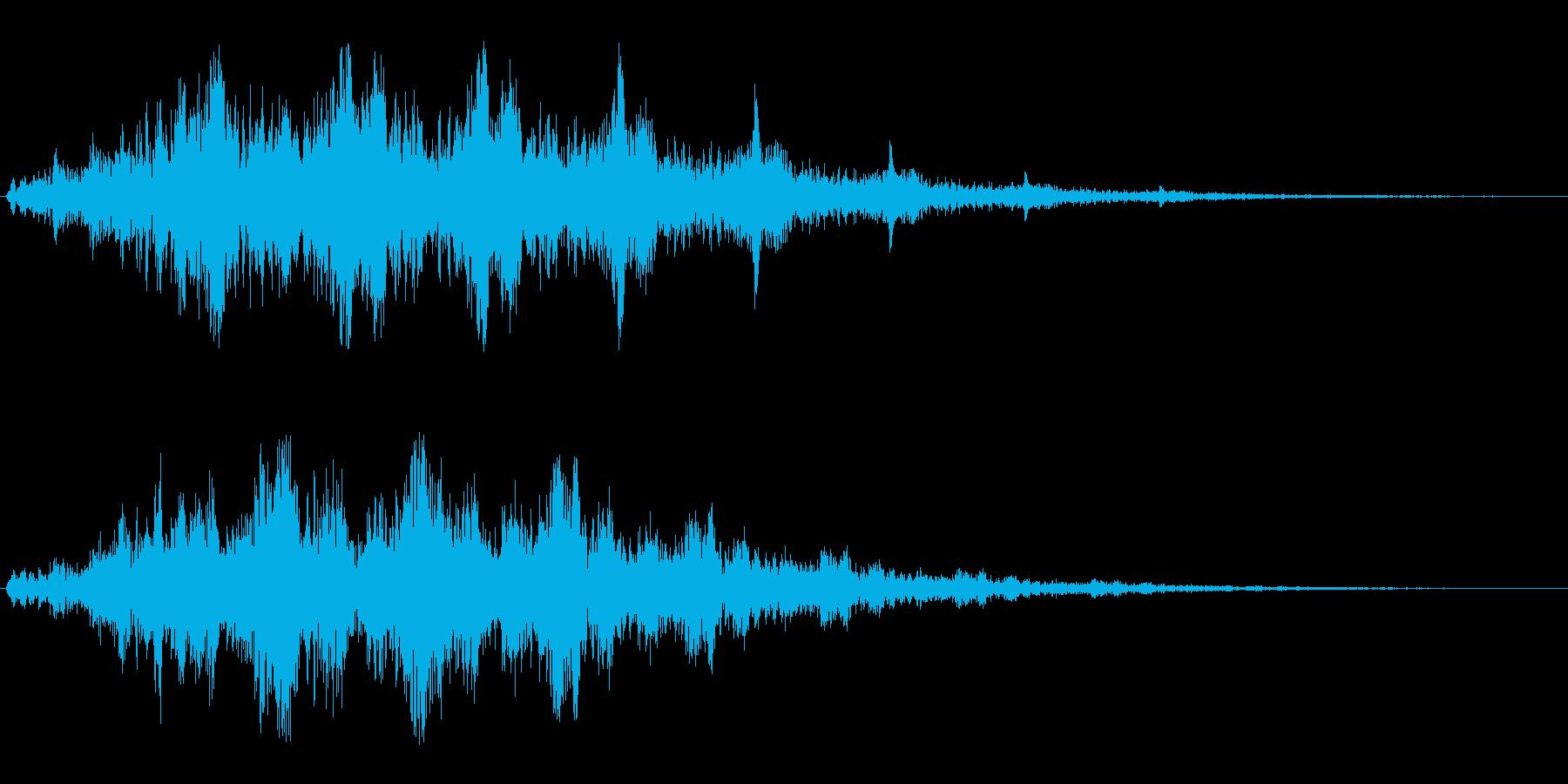 映画やゲームでのワープ音の再生済みの波形