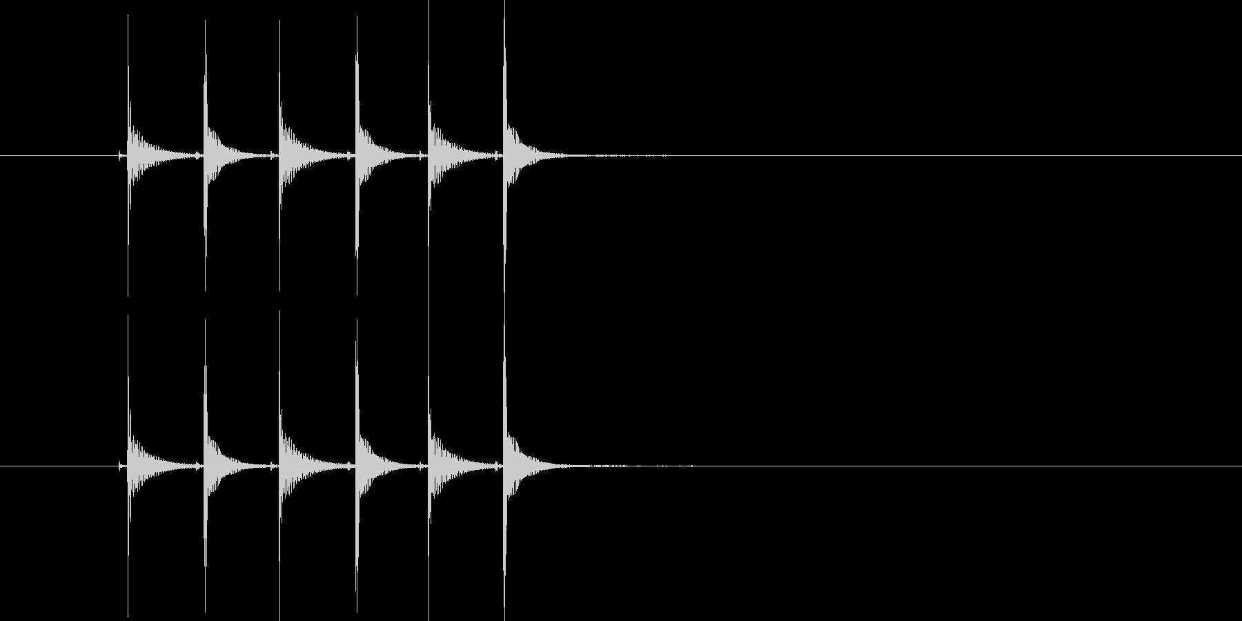 ピコピコピコ(高音の電子音)の未再生の波形
