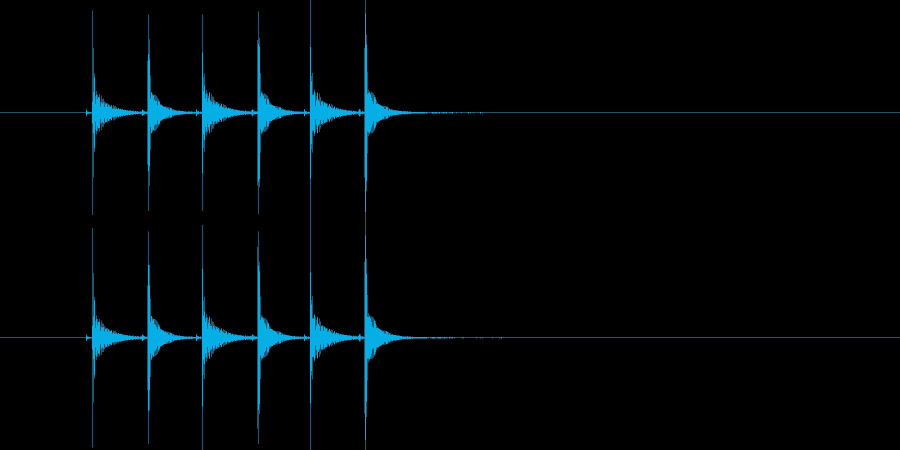 ピコピコピコ(高音の電子音)の再生済みの波形