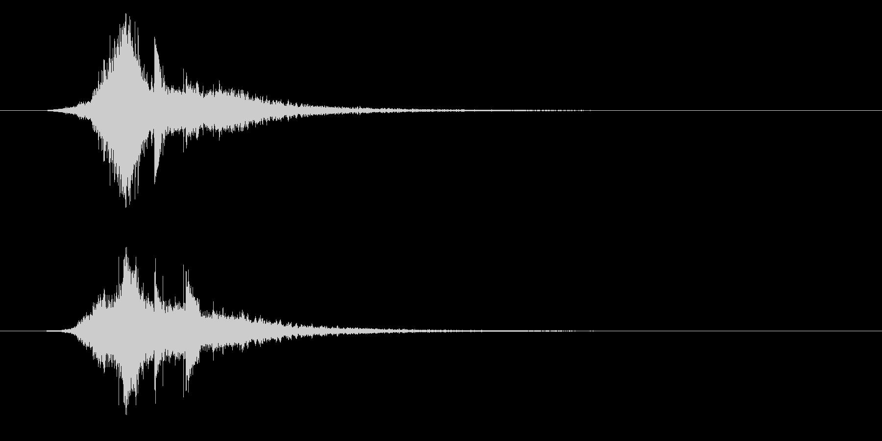 サウンドロゴ、起動音、クールな電子音の未再生の波形