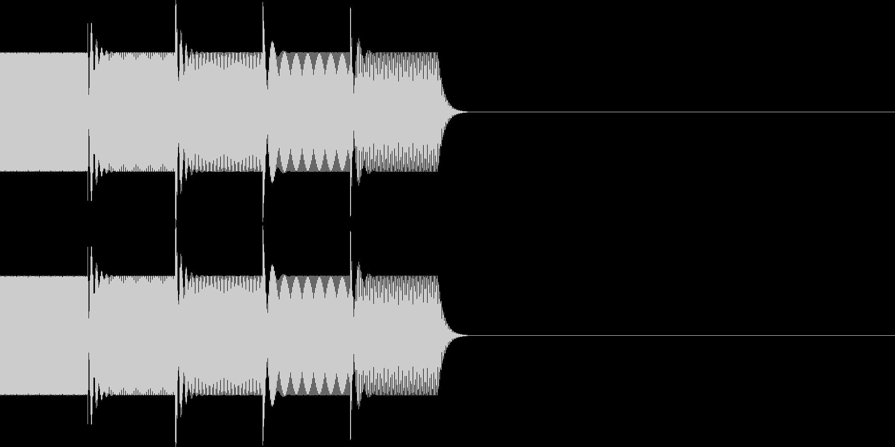 ボタン・操作音(下降)の未再生の波形