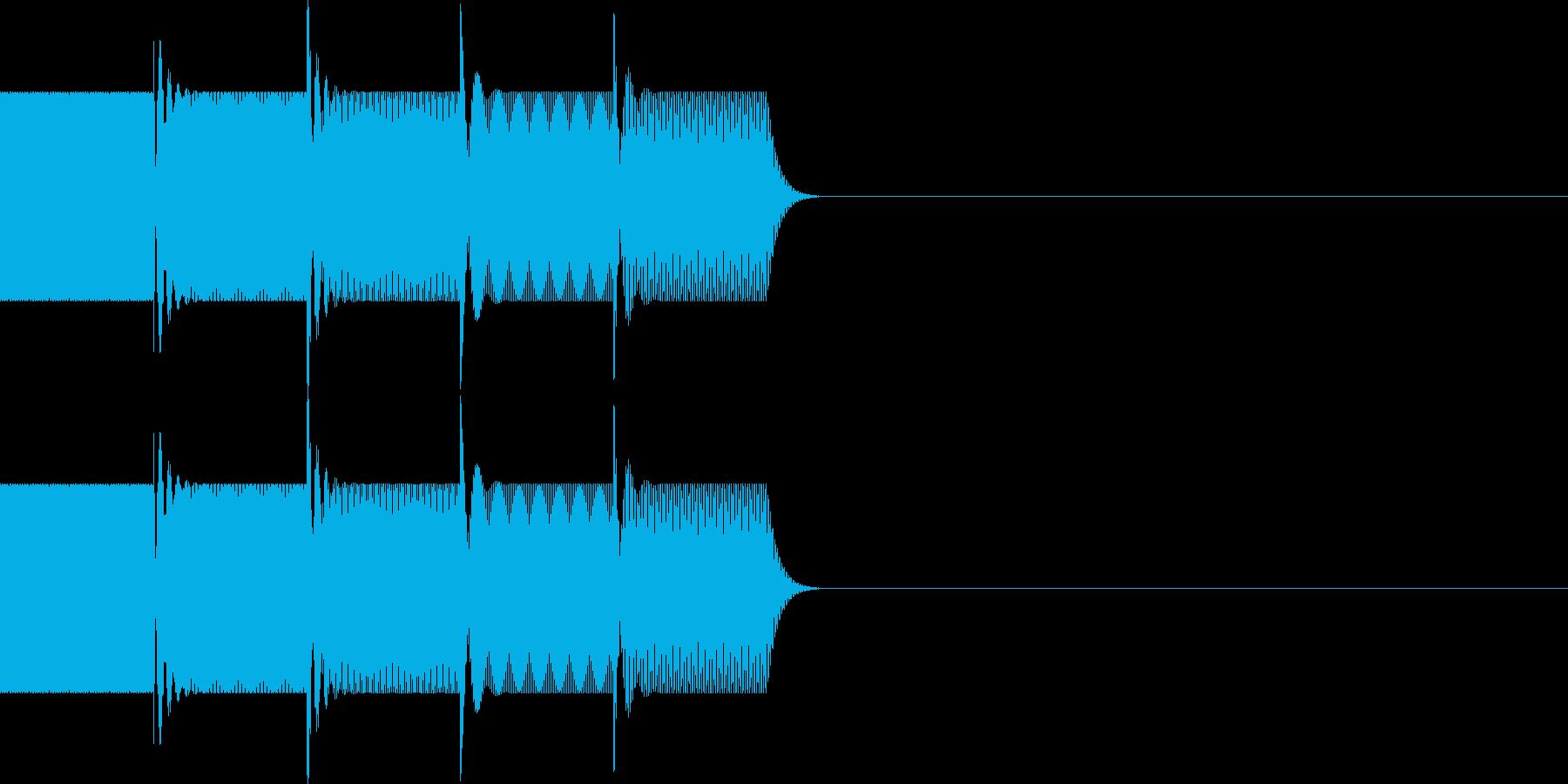 ボタン・操作音(下降)の再生済みの波形