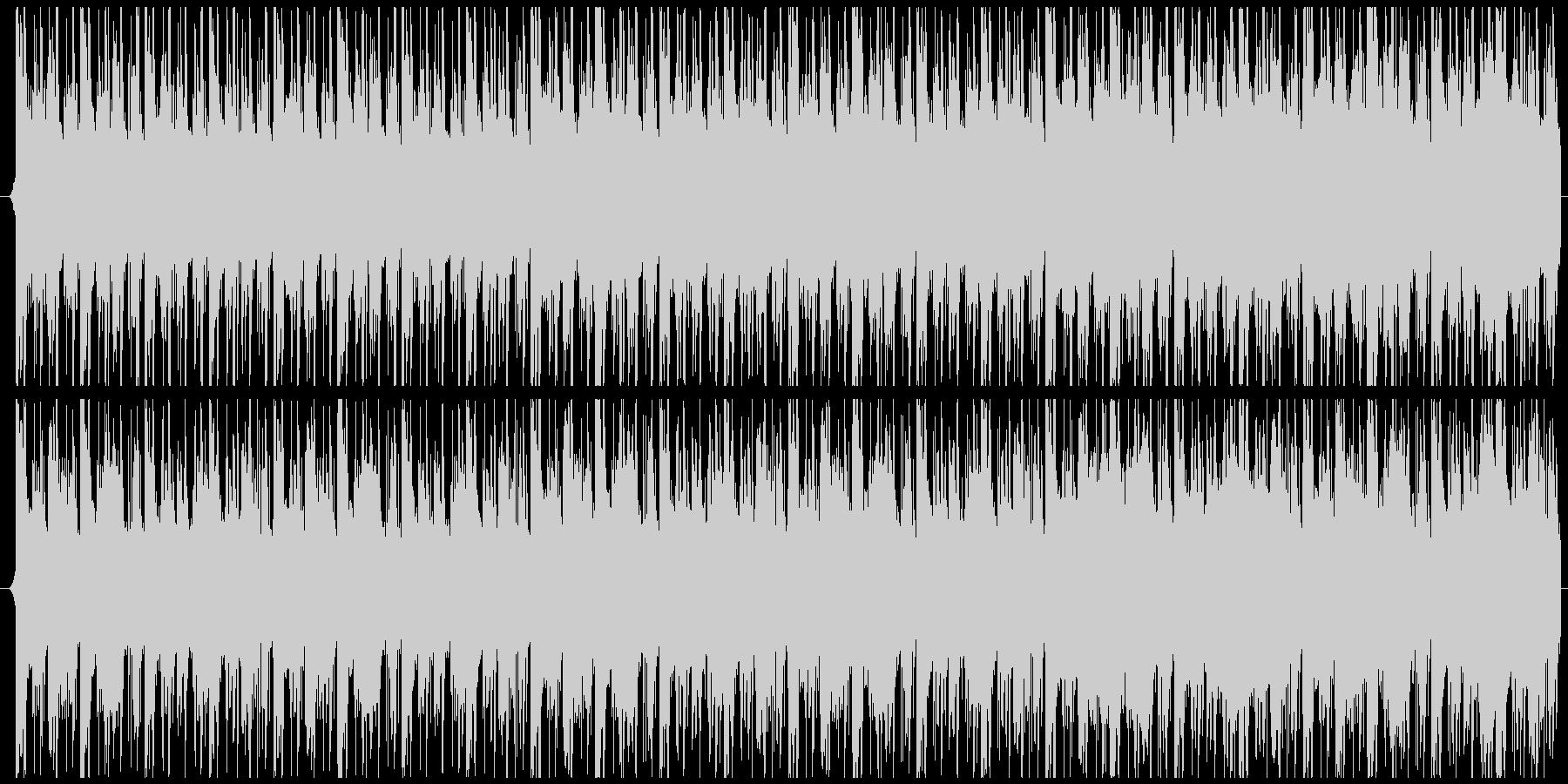 緊張感・疾走感のあるBGMの未再生の波形