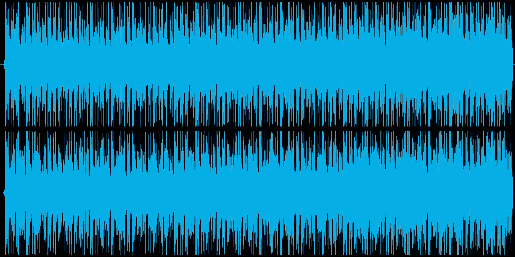 緊張感・疾走感のあるBGMの再生済みの波形
