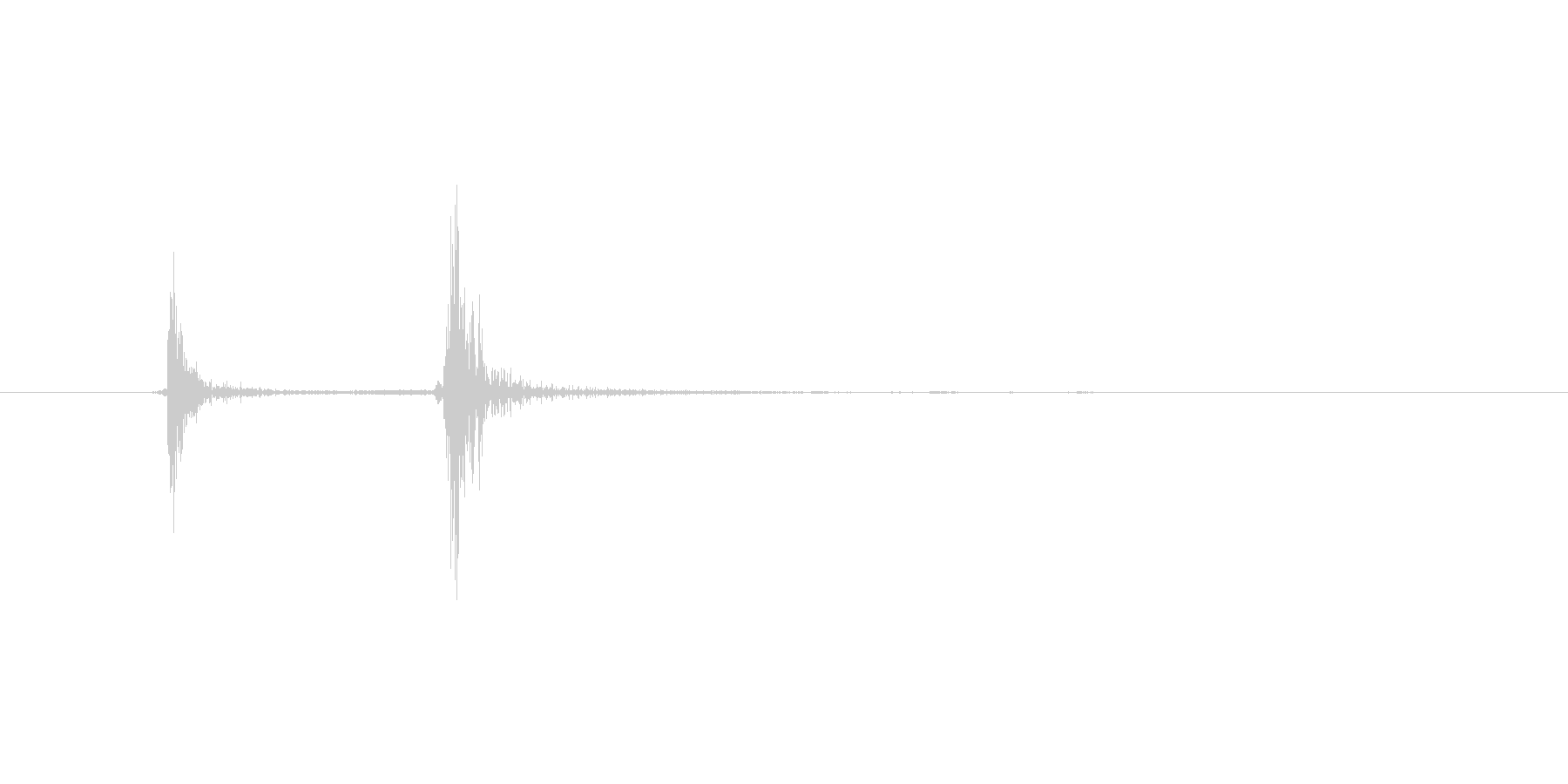 カチッ(レバースイッチ音)の未再生の波形