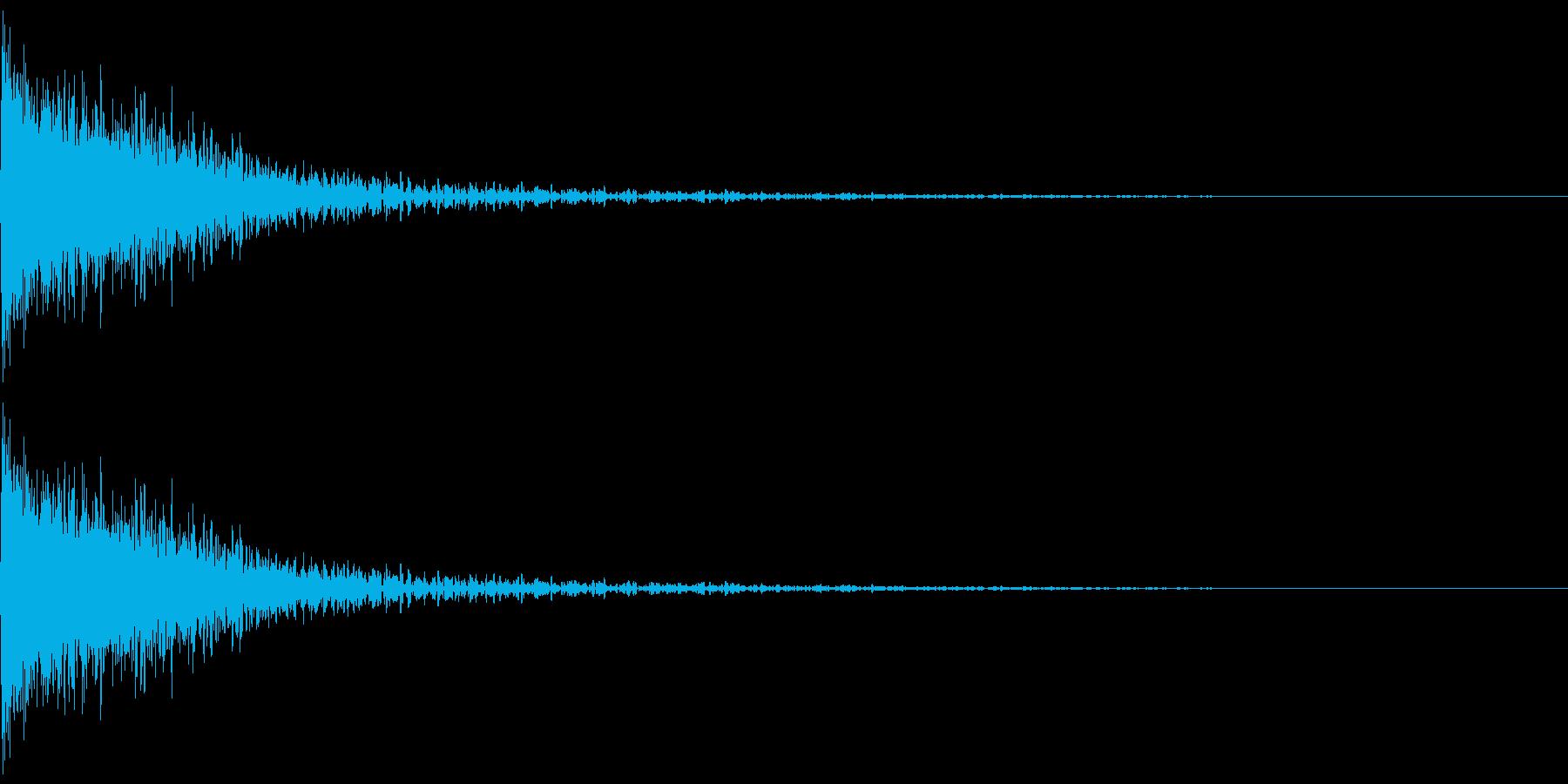 ドォーン(感情:怒る)の再生済みの波形