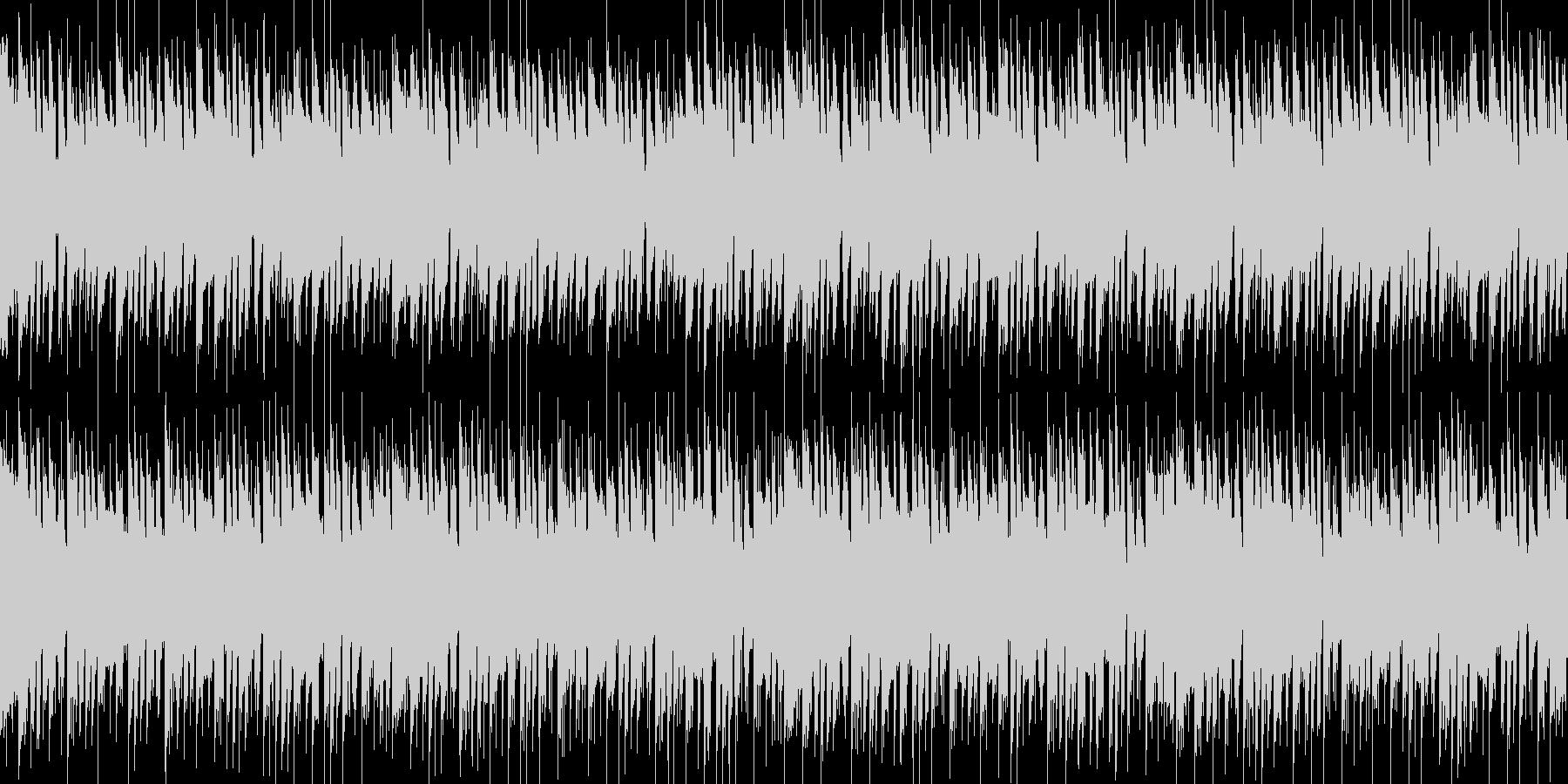 ポップで可愛らしいBGMの未再生の波形