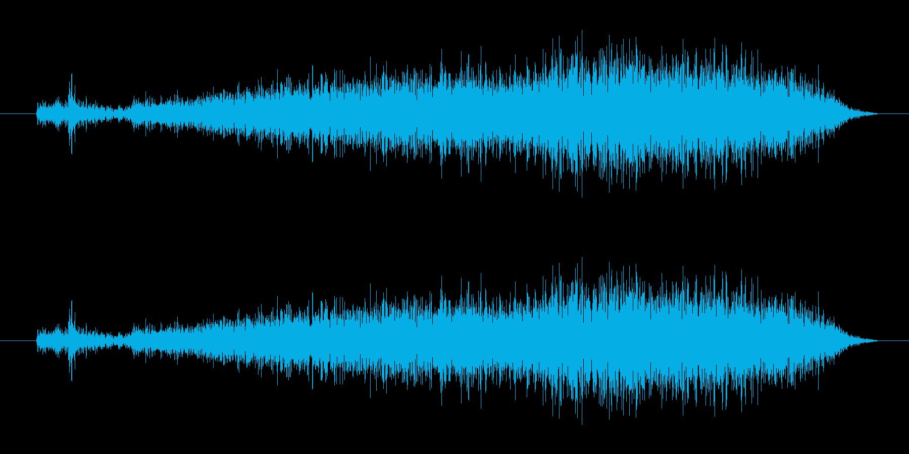 「猫が怒った声 (シャー)」の再生済みの波形