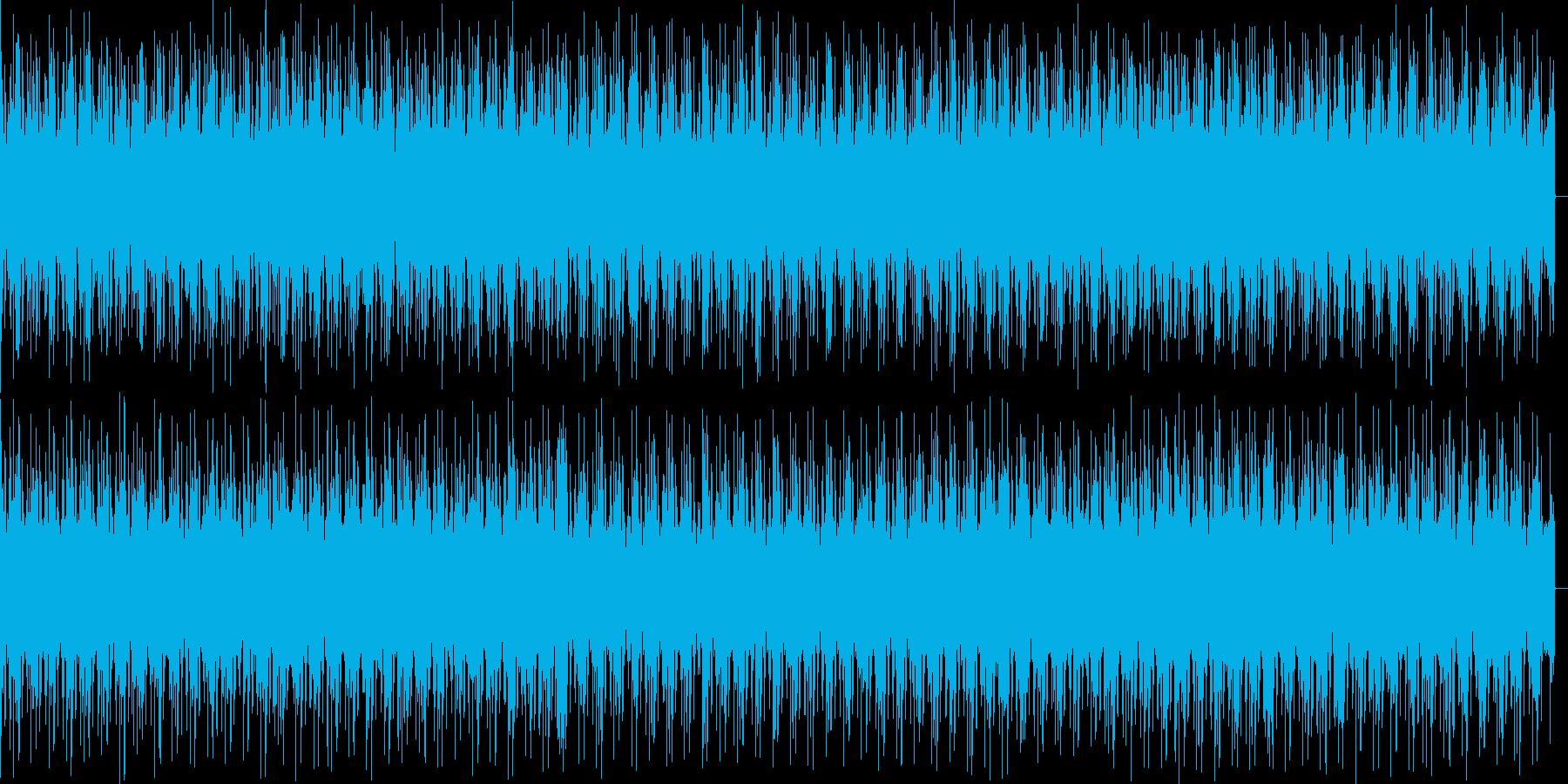 人を追っかけてるときのBGMの再生済みの波形