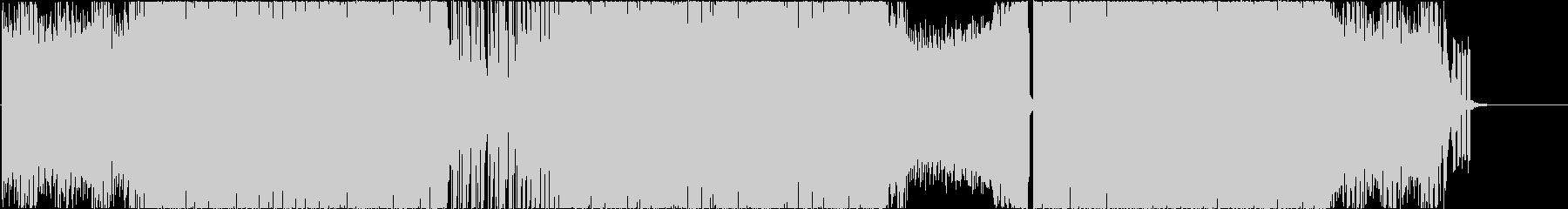 バトル,カーアクション,疾走感あるBGMの未再生の波形