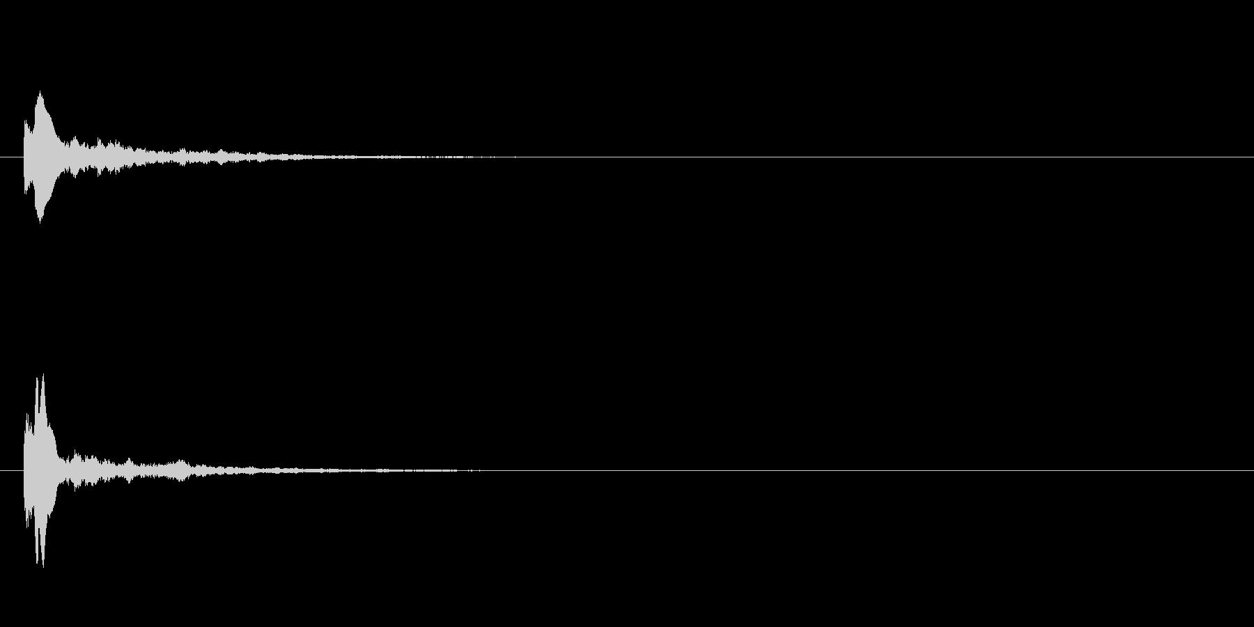 キューン テロップ・決定音・タッチ音の未再生の波形