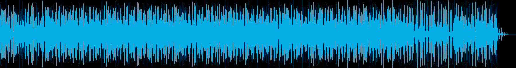 アップテンポのダンスチューンの再生済みの波形