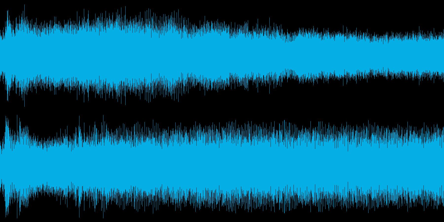 小型ボートのエンジン始動音の再生済みの波形