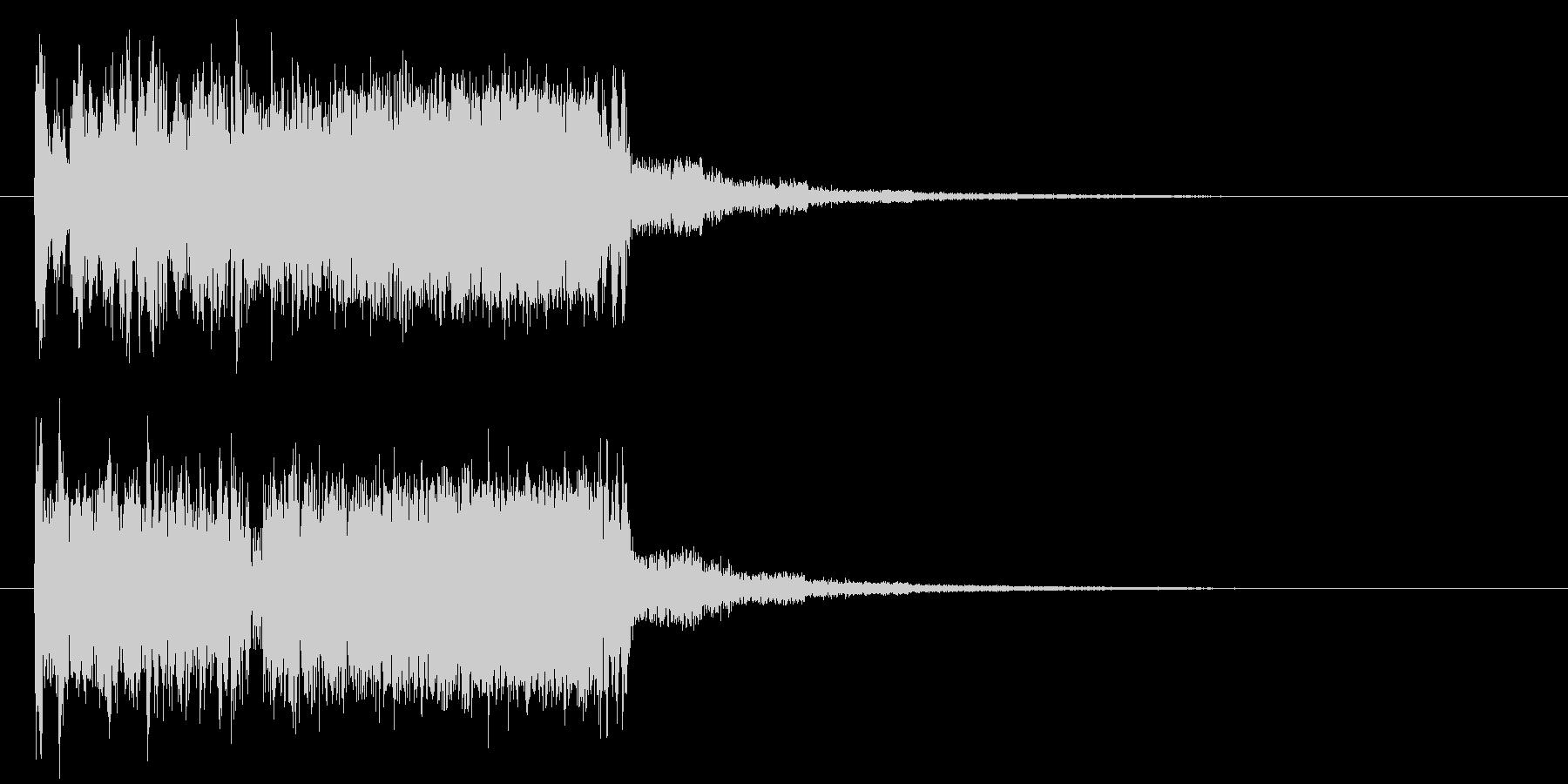 ビュルビュルビュルビュル(ビーム上昇音)の未再生の波形