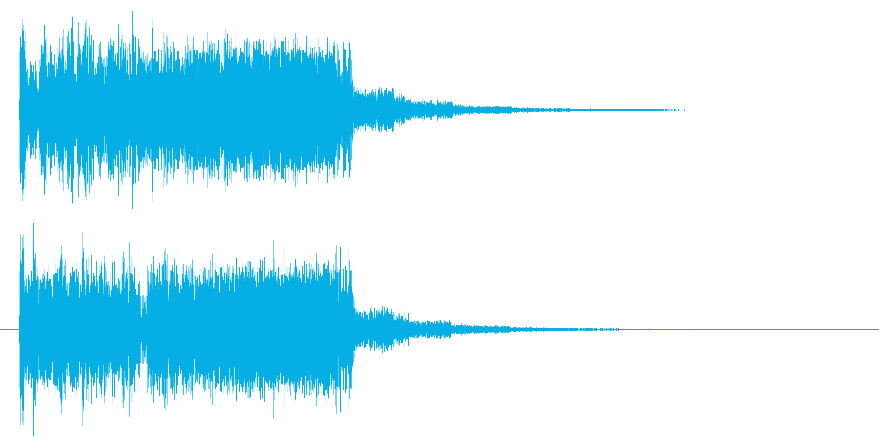 ビュルビュルビュルビュル(ビーム上昇音)の再生済みの波形