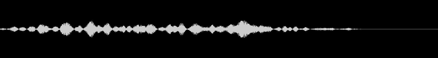 「ぴっ」という鳥の声です。何かをスライ…の未再生の波形