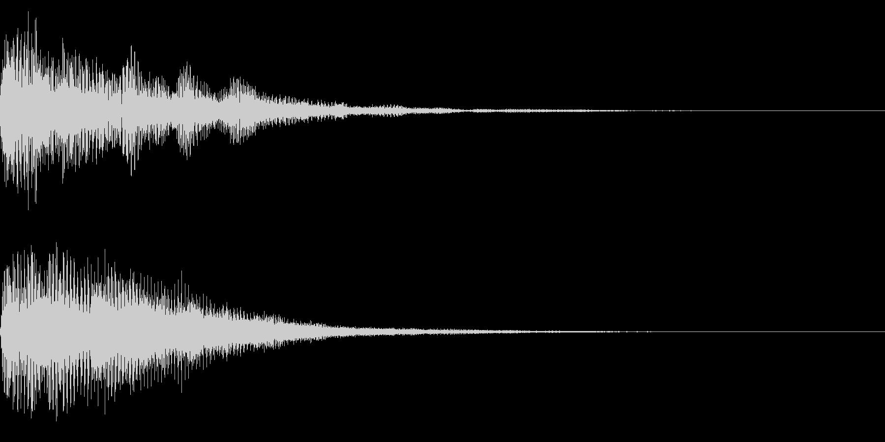 ホラー系アタック音95の未再生の波形