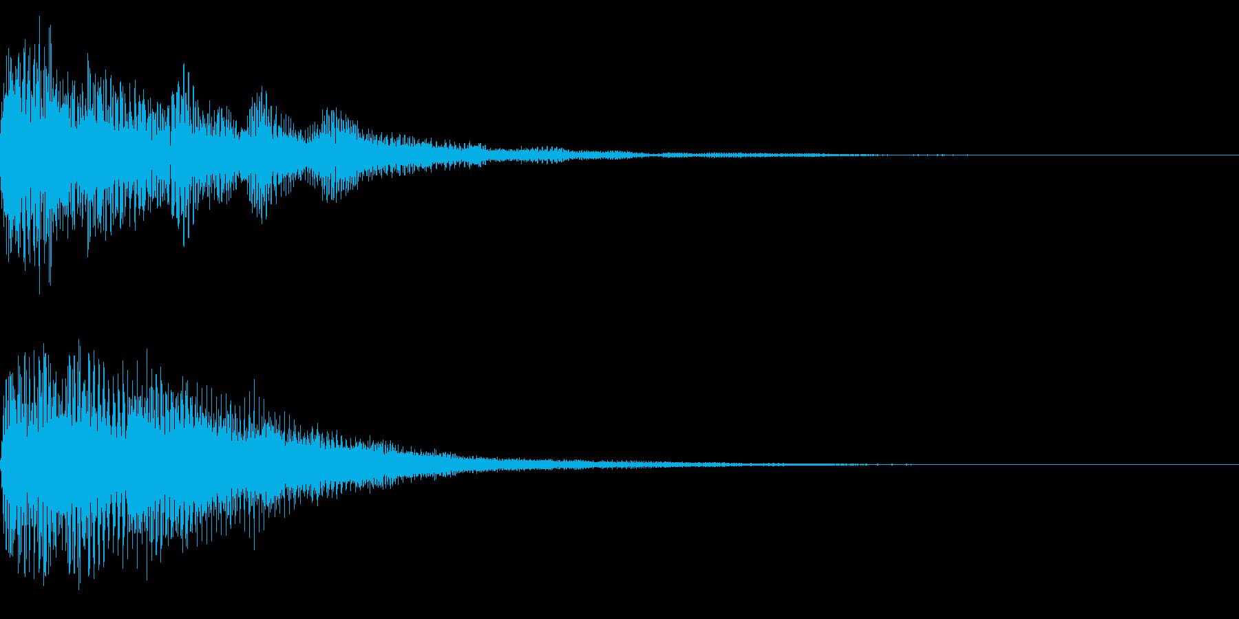 ホラー系アタック音95の再生済みの波形