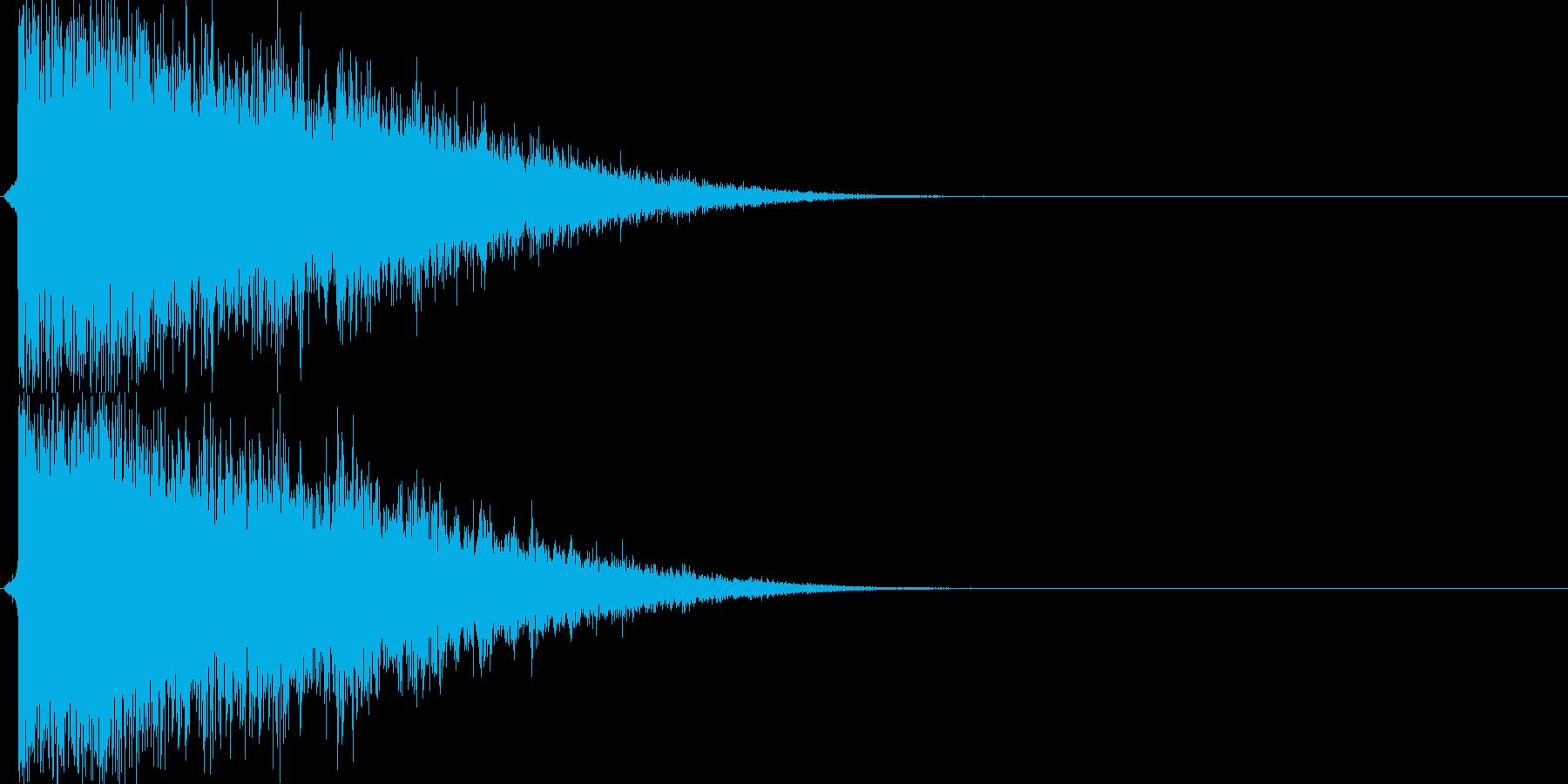 バシューン(シューティング、ショット音)の再生済みの波形