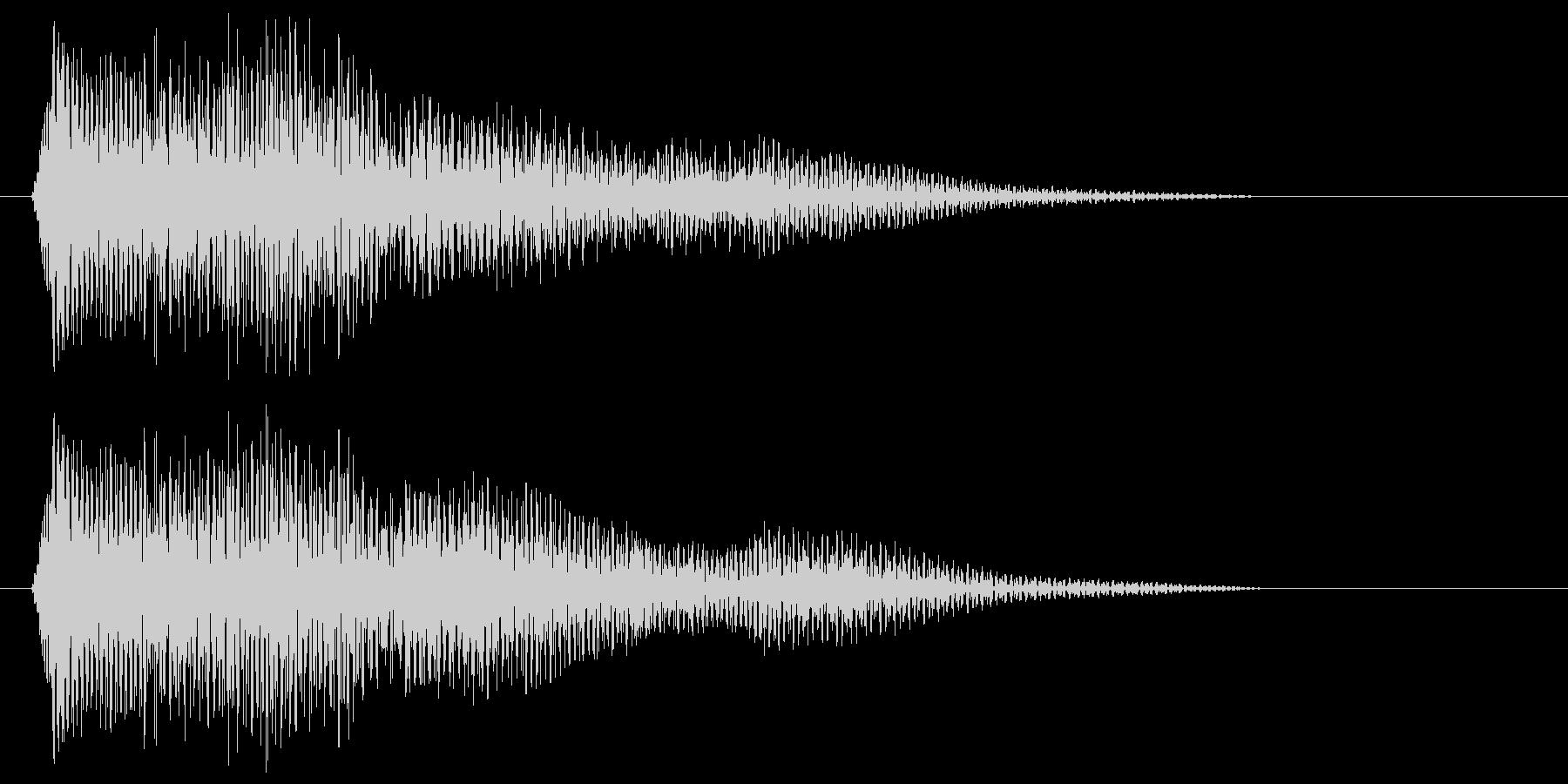 ピロリッ(クリック音)の未再生の波形