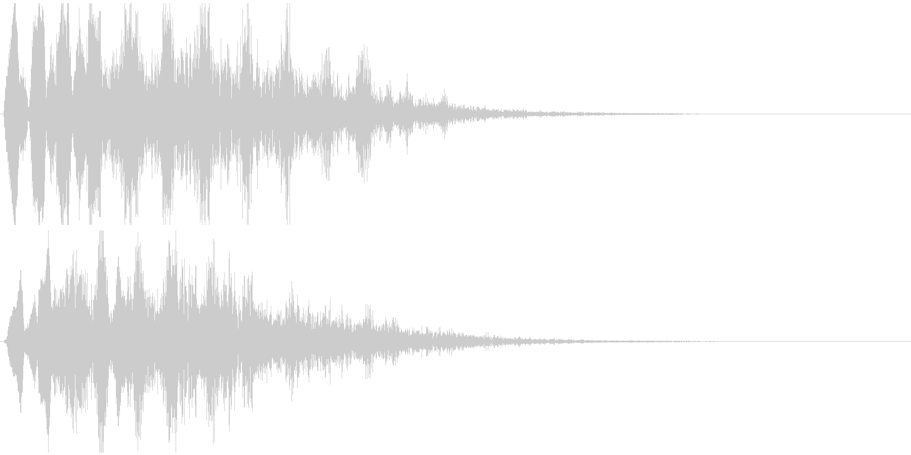 低音版ですの未再生の波形