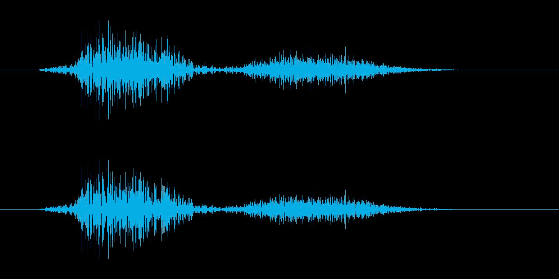 侍魂溢れる和風掛け声「発(Hatsu)」の再生済みの波形