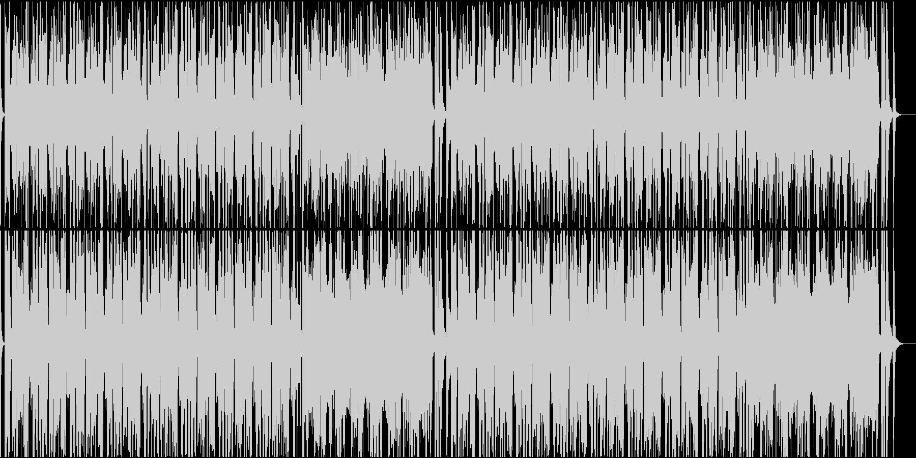 軽快なファンクポップの未再生の波形