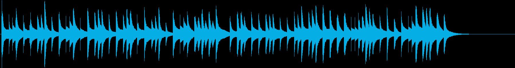 もみじの曲のオルゴール(シンセ)アレンジの再生済みの波形