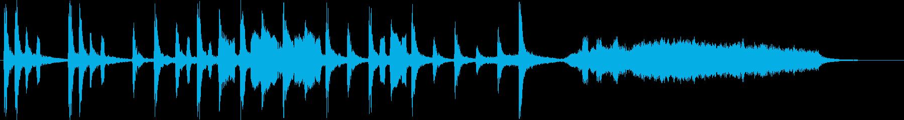 ほのぼのした場面のショートソングの再生済みの波形
