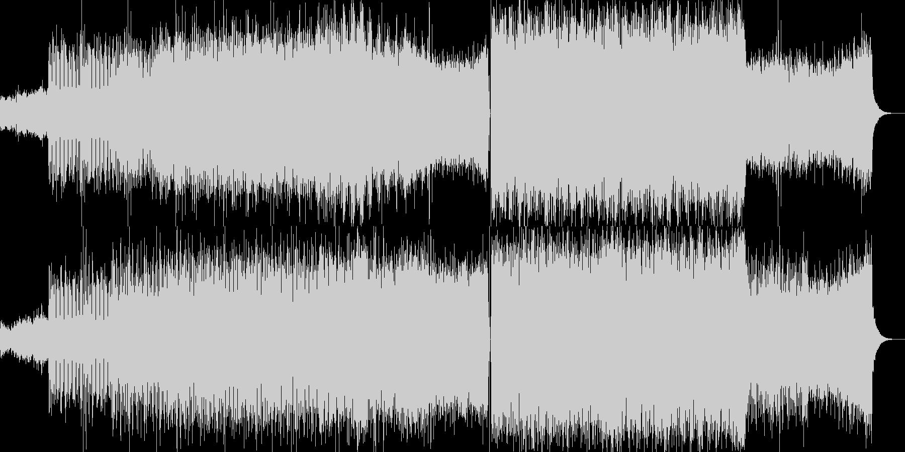 キラキラしたテクノポップの未再生の波形