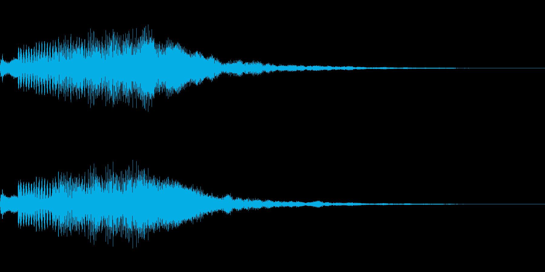 少し広がりのあるキラキラ音です。の再生済みの波形