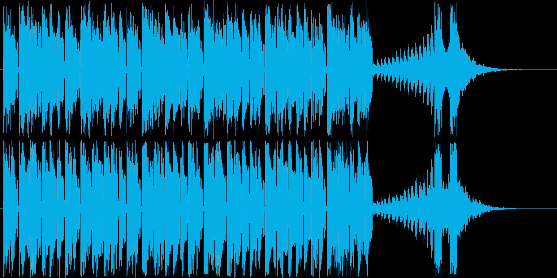 リズム感があり軽快なポップスの再生済みの波形