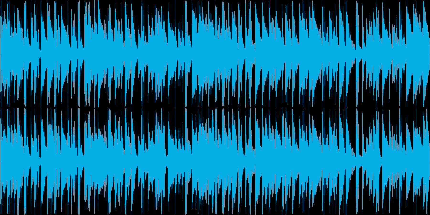 リズミックなイメージをした楽曲です。の再生済みの波形