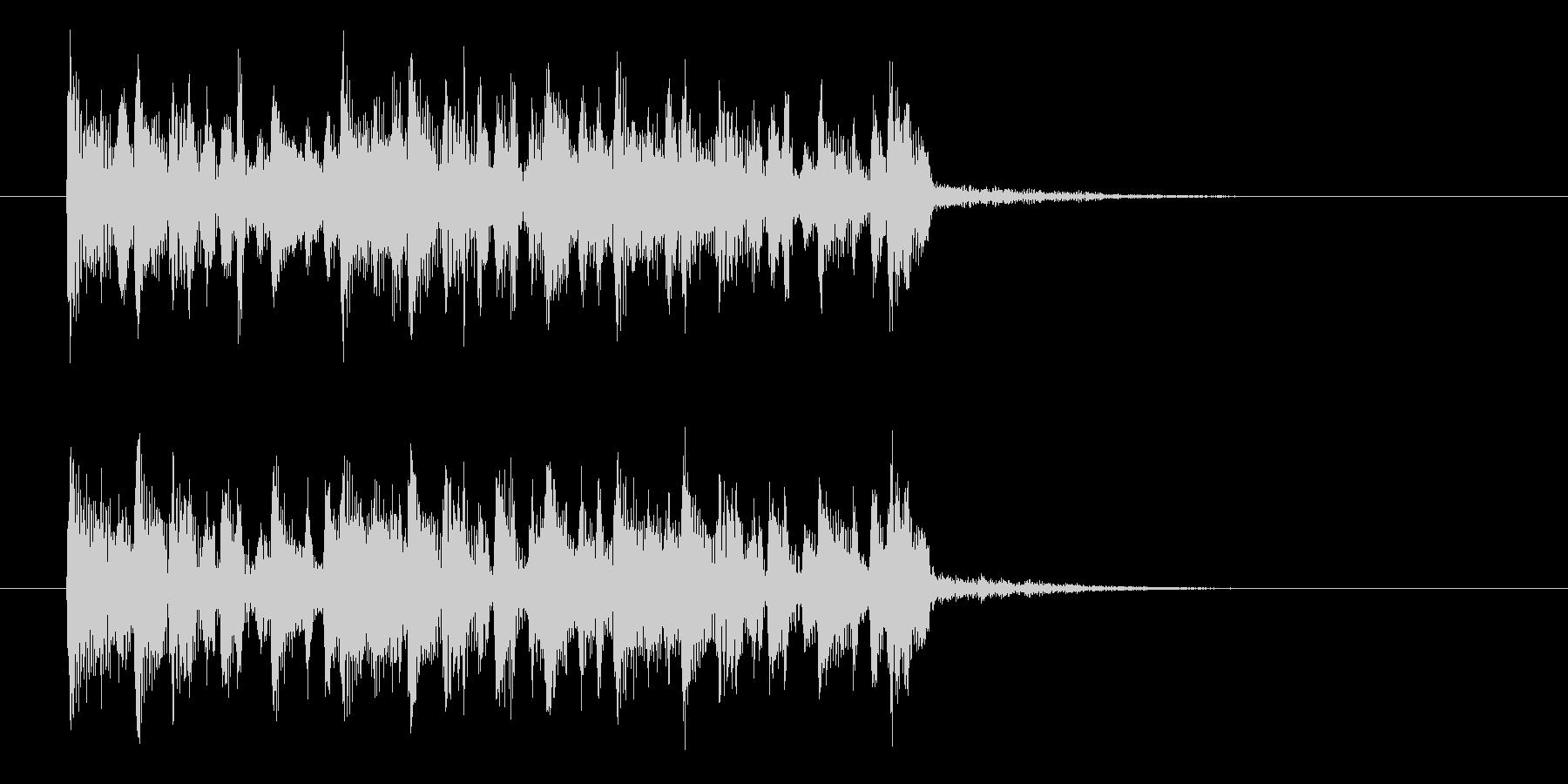 シンプルで軽やかなアコギジングルの未再生の波形
