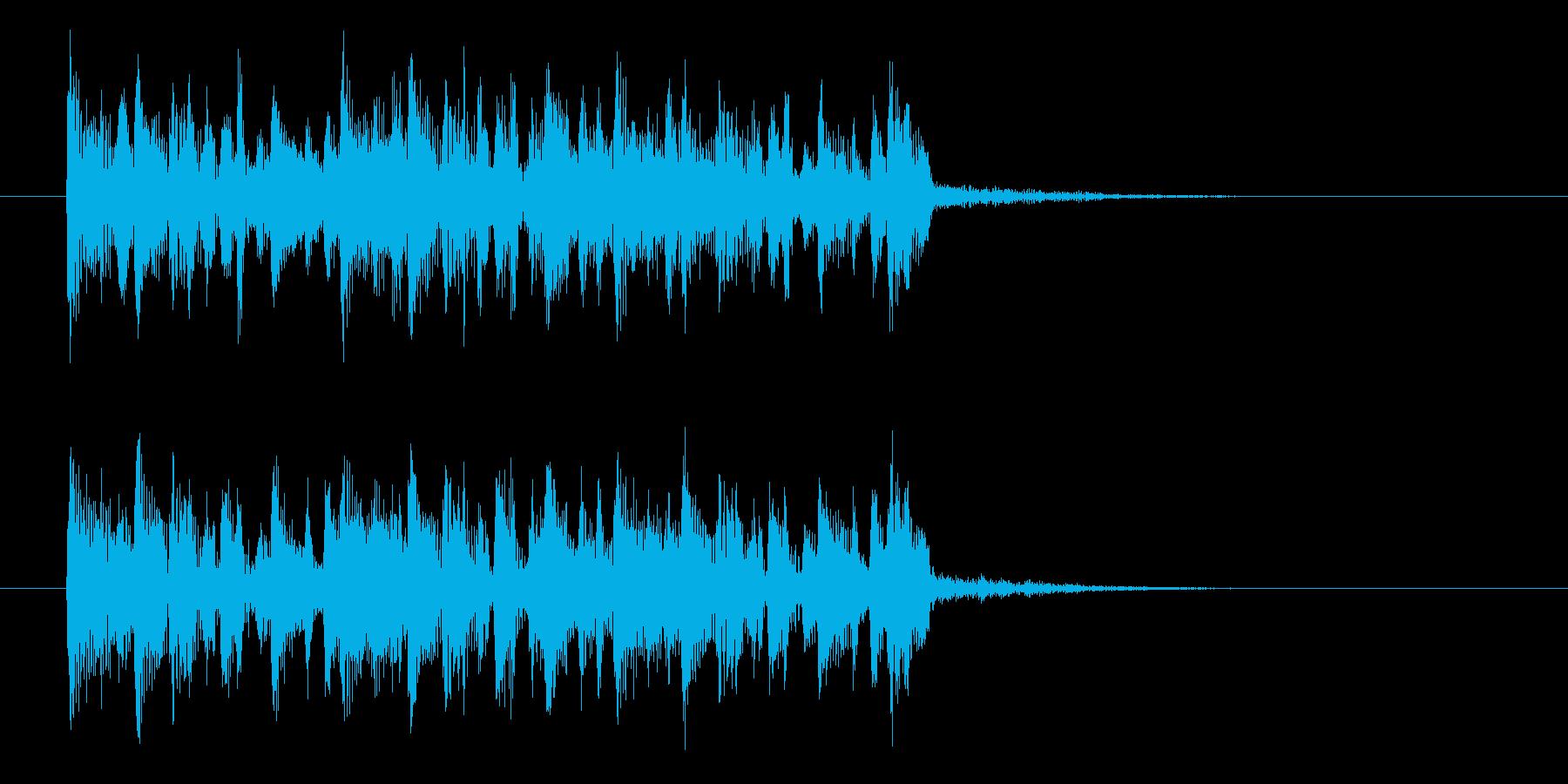 シンプルで軽やかなアコギジングルの再生済みの波形