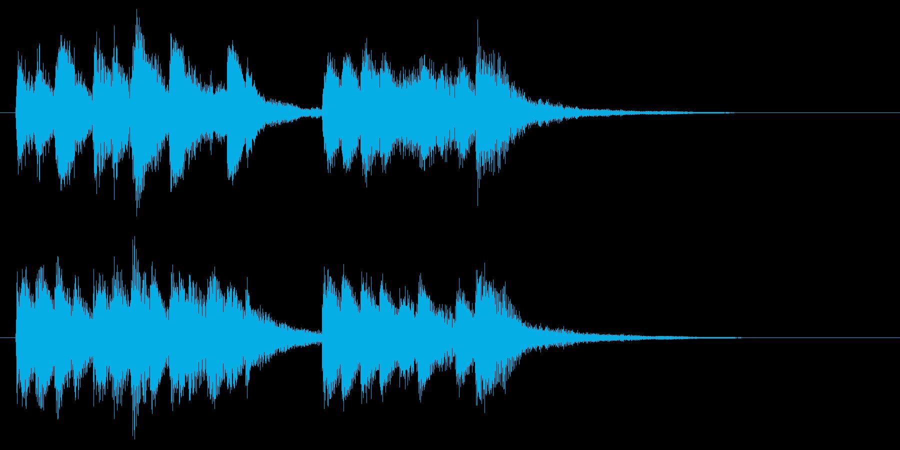 軽快でほのぼのとしたピアノジングルの再生済みの波形