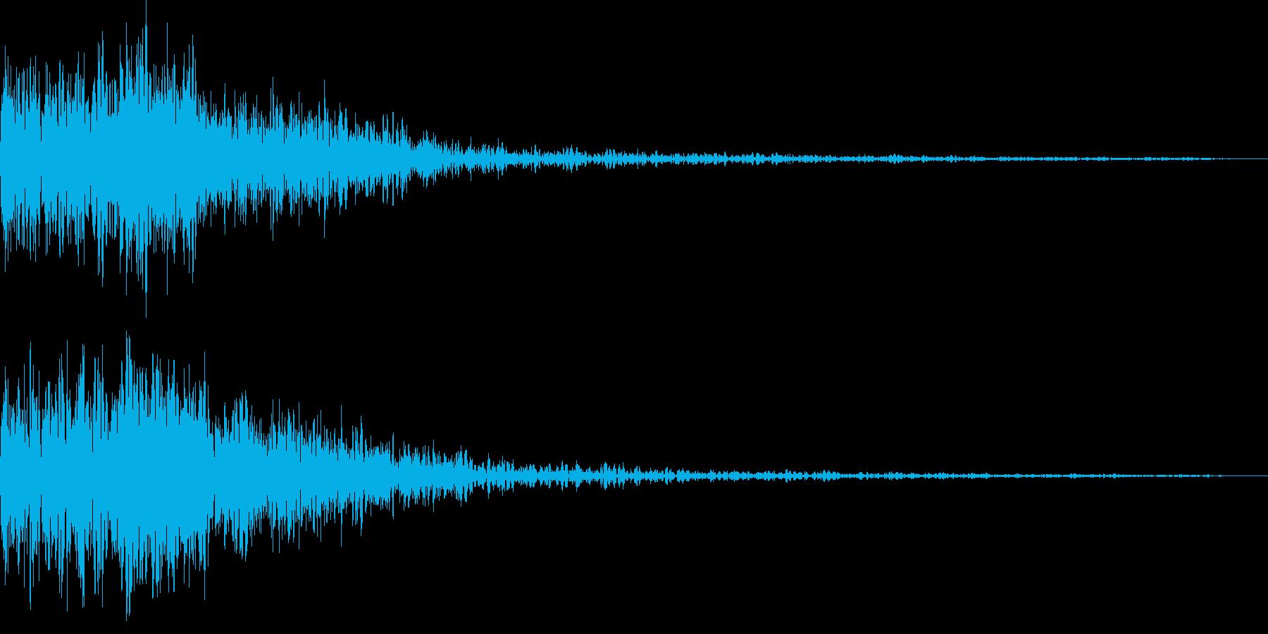 ロボットの歩行音のイメージですどうでも…の再生済みの波形