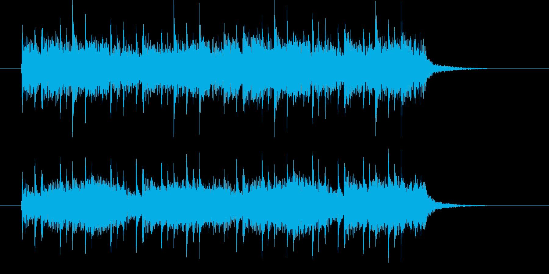 速いとゆっくりが融合した民族音楽の再生済みの波形