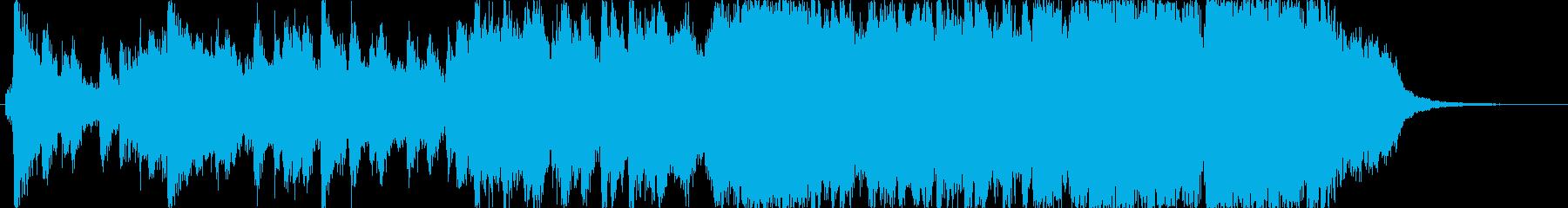 明るい希望に満ちたオーケストラジングル。の再生済みの波形