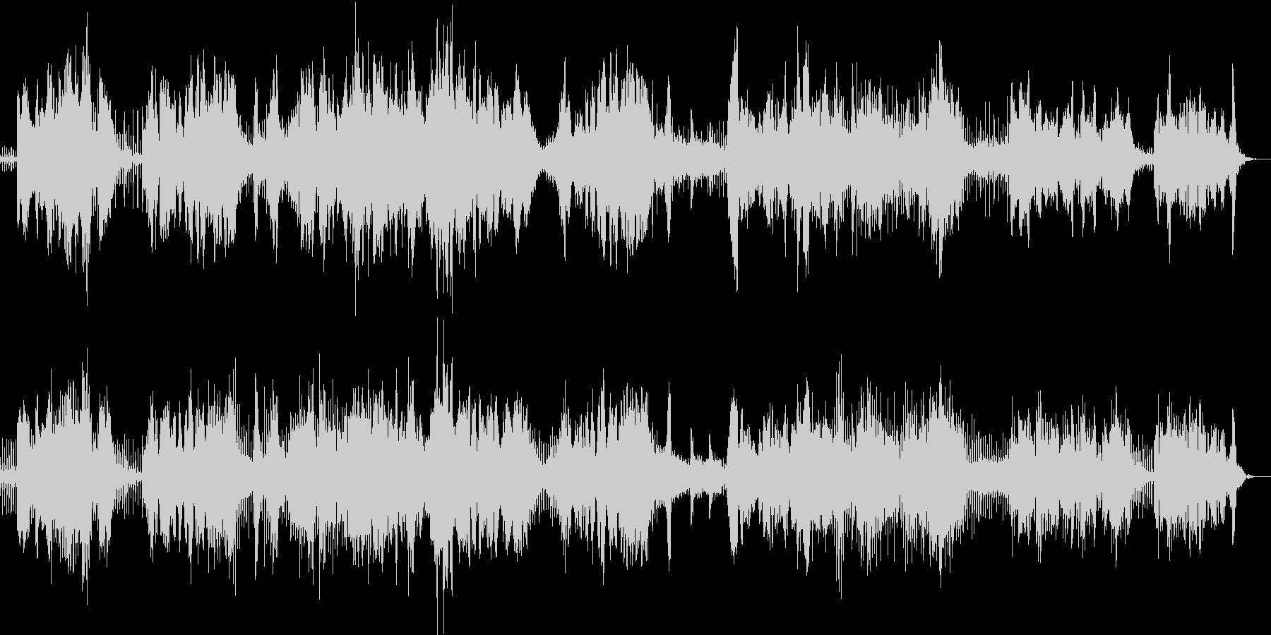 二胡とシンセ・ピアノとおっさんの民族調の未再生の波形