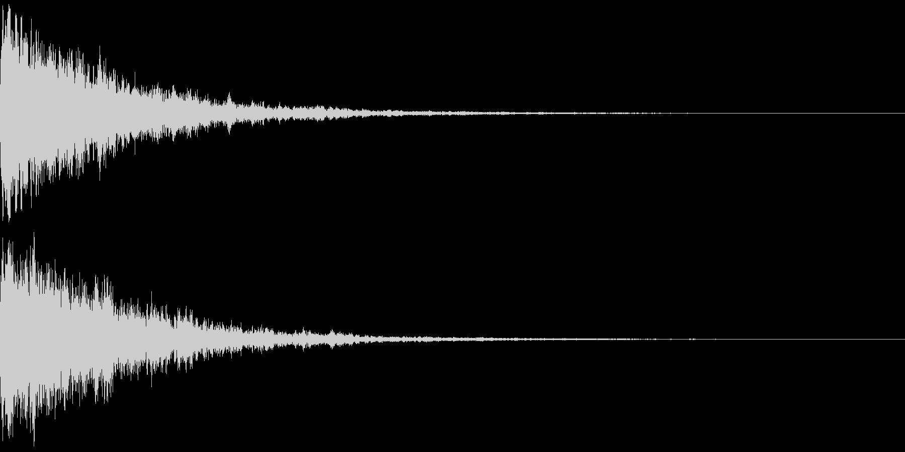 氷を思わせるワンショット効果音(弱め)の未再生の波形