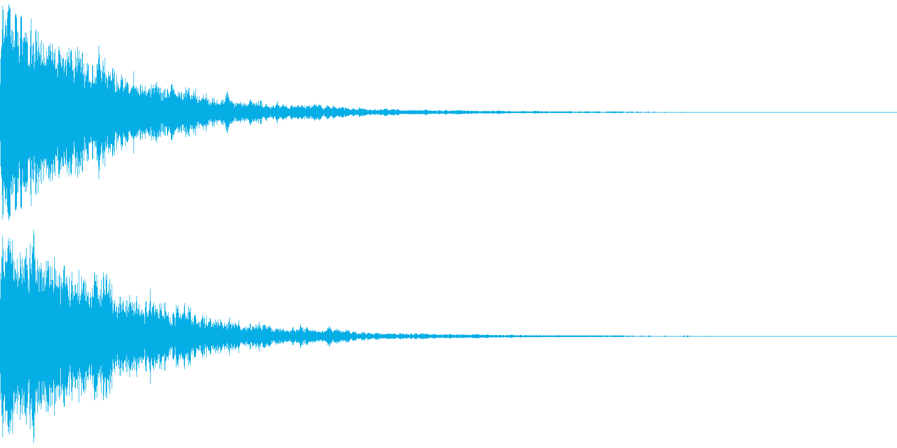 氷を思わせるワンショット効果音(弱め)の再生済みの波形