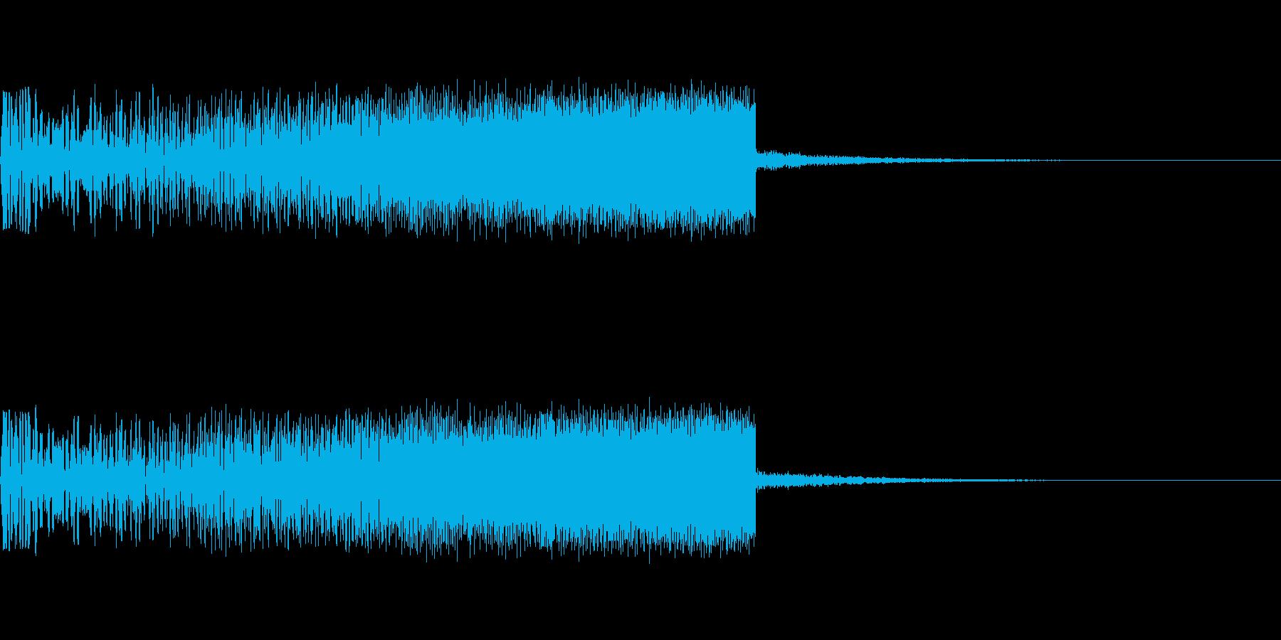 上昇音 シンセ01 【2秒】の再生済みの波形