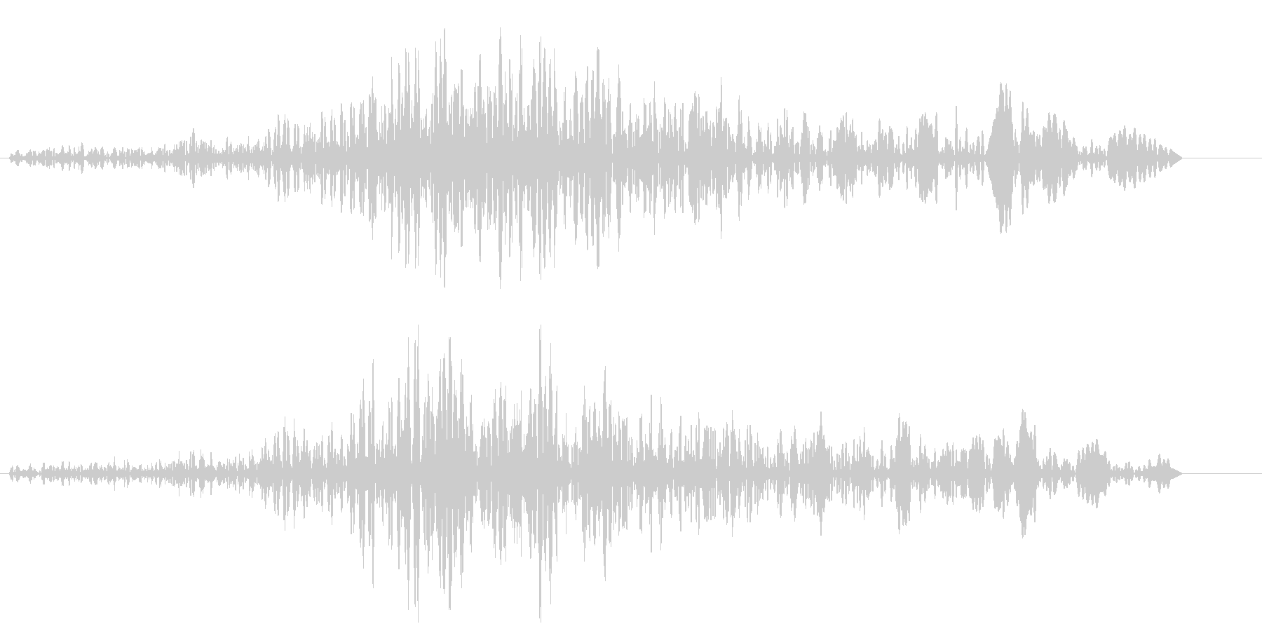 ブォワゥンというハウリング音の未再生の波形