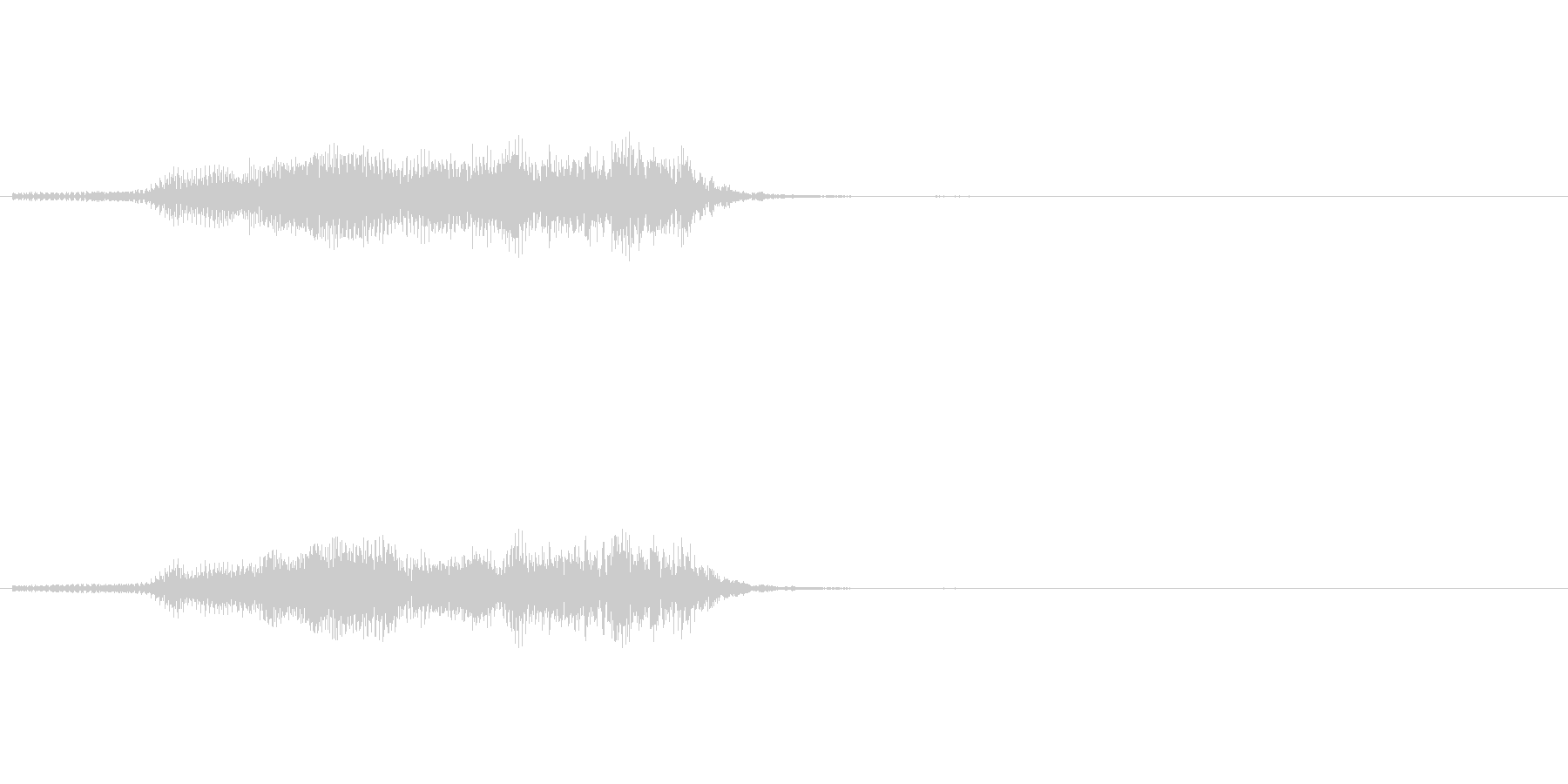 牛の鳴き声の未再生の波形