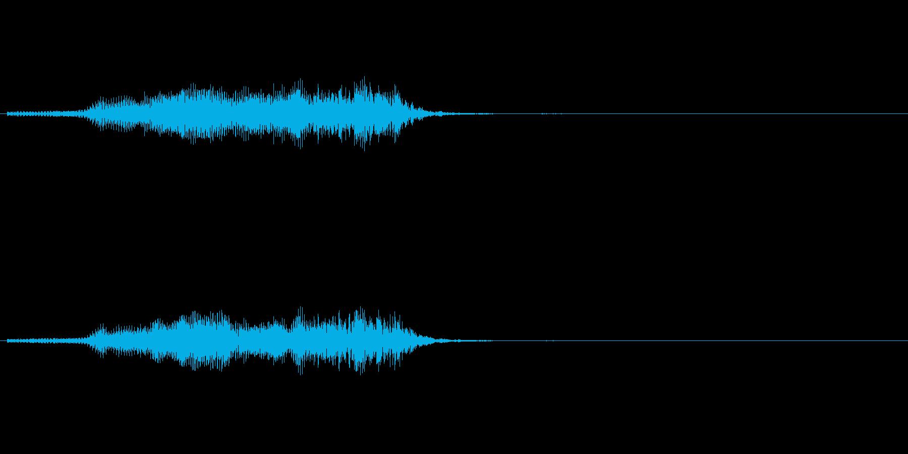 牛の鳴き声の再生済みの波形