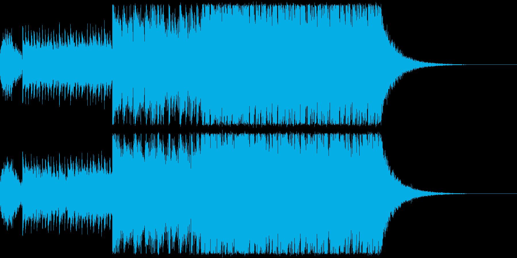 キラキラ&アップテンポなオープニング楽曲の再生済みの波形