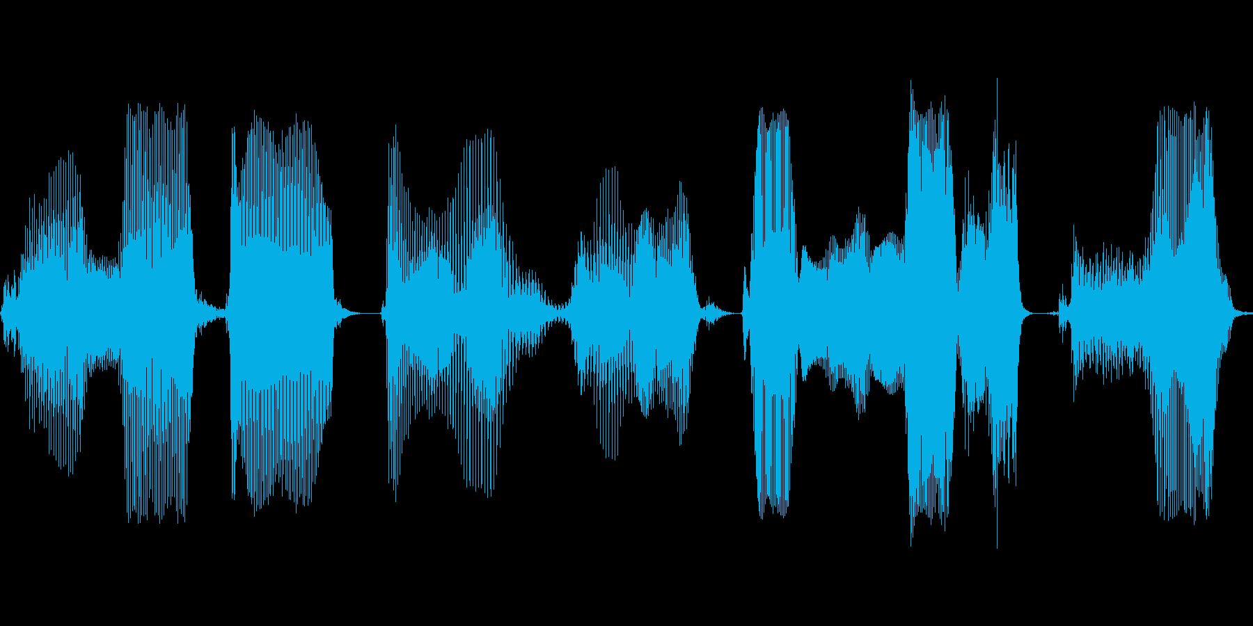 このデータを読み込みますか?の再生済みの波形