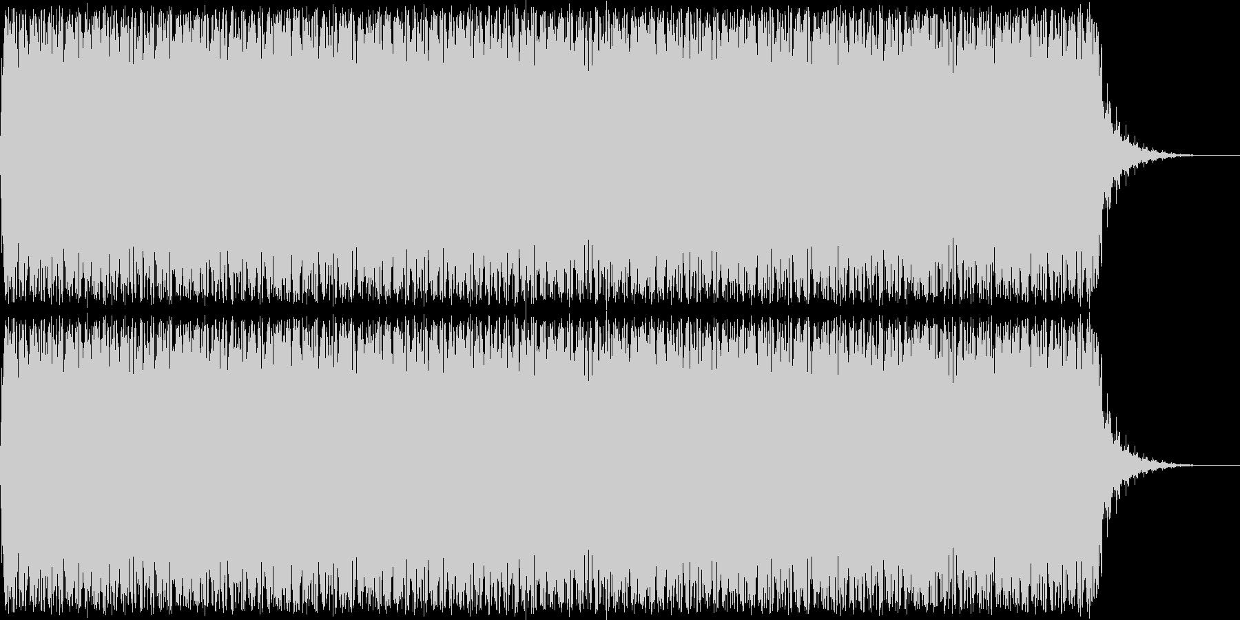 アニメにありそうなレーザーが飛び交う音の未再生の波形