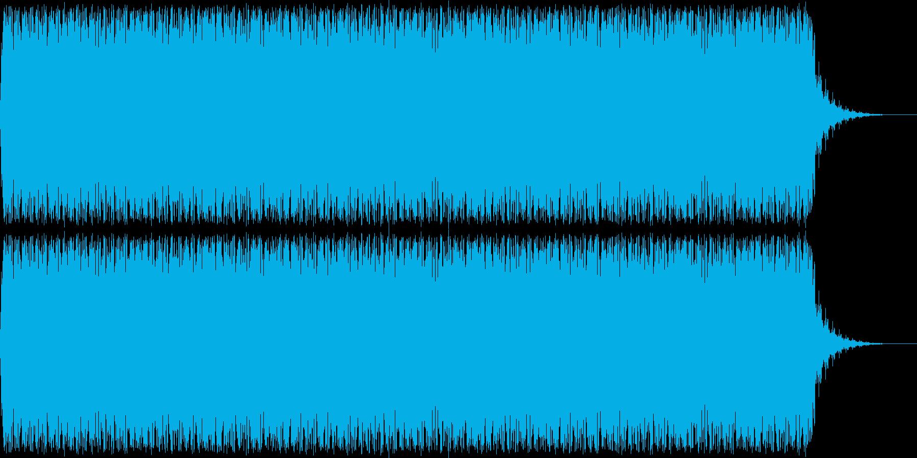 アニメにありそうなレーザーが飛び交う音の再生済みの波形